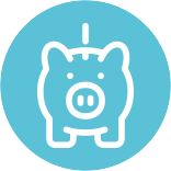 start young piggy bank icon
