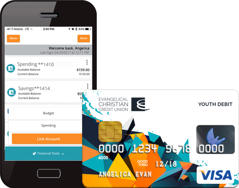 Banking app and Debit Card