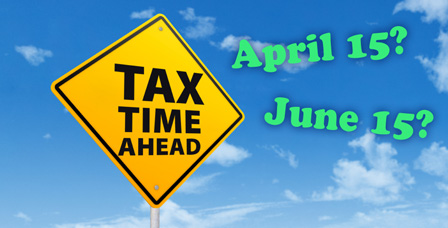 tax time ahead sign